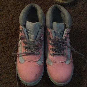 Pink & Gray Timberlands. Size 8